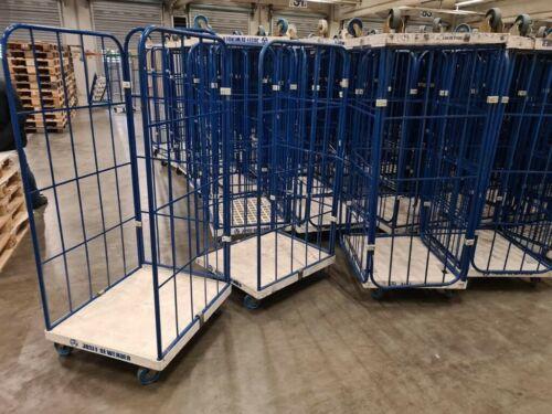 6 Gitterrollwagen Rollwagen Rollbehälter 3 Seitig Gitter bis Höhe175cm 40°