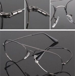 97c1aa67a6 Image is loading Memory-Titanium-Flexible-Large-Size-Pilot-Optical-Eyeglass-