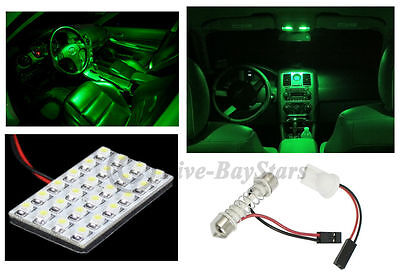 T10//Festoon//BA9S12 SMD GREEN LED Interior Dome //Map Light Bulb Panel 4 CHEVROLET