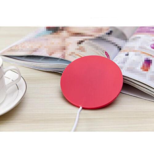 5V USB Silicone Heat Warmer Heater Tea Coffee Mug Hot Drinks Beverage Cup Fad TS