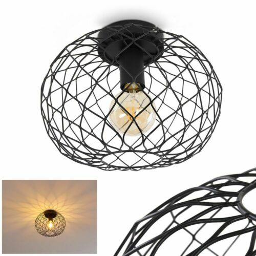 Vintage Flur Strahler Decken Lampe Schwarz Wohn Schlaf Zimmer Raum Beleuchtung