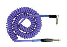 "Kirlin Premium Coil Cable 1/4"" single Angle Guitar Instrument Purple, 30 Ft."