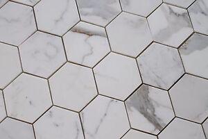 details about calacatta gold 4 inch hexagon mosaic tiles kitchen backsplash bathroom tile