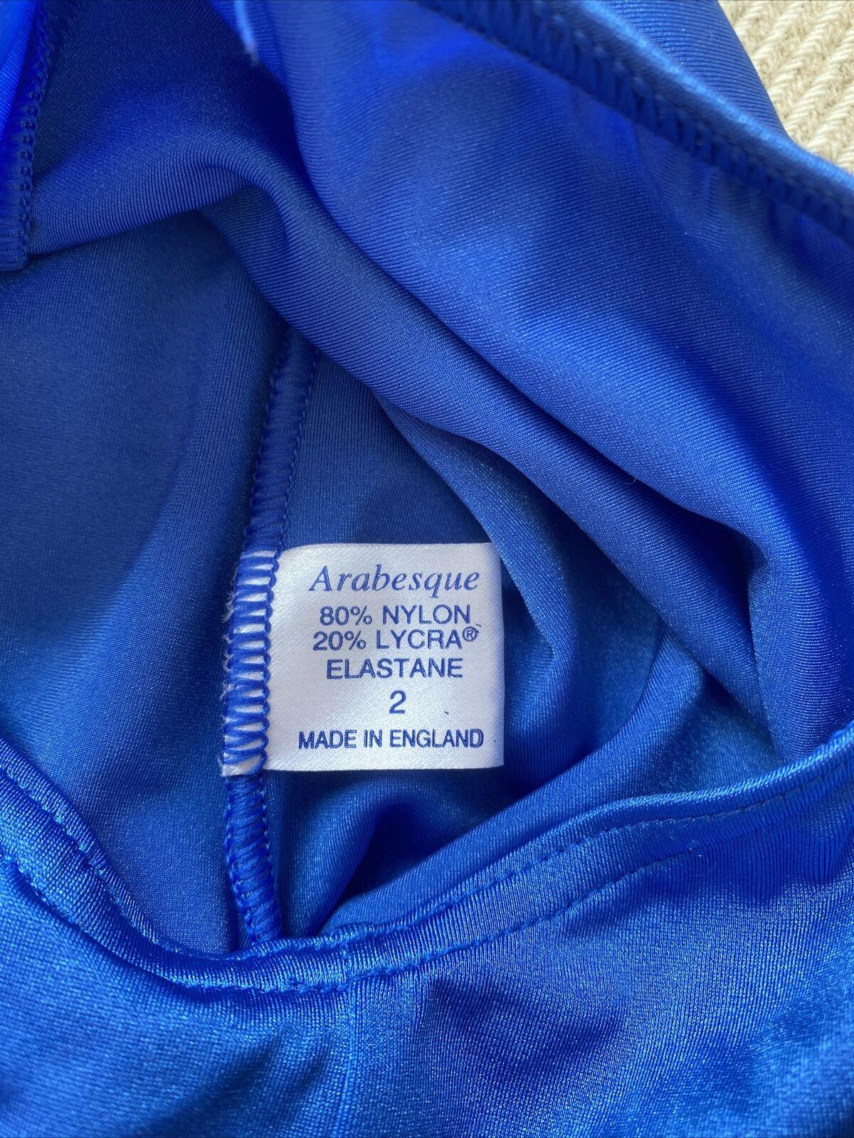 Arabesque Turquoise Key Hole Leotard size 2A