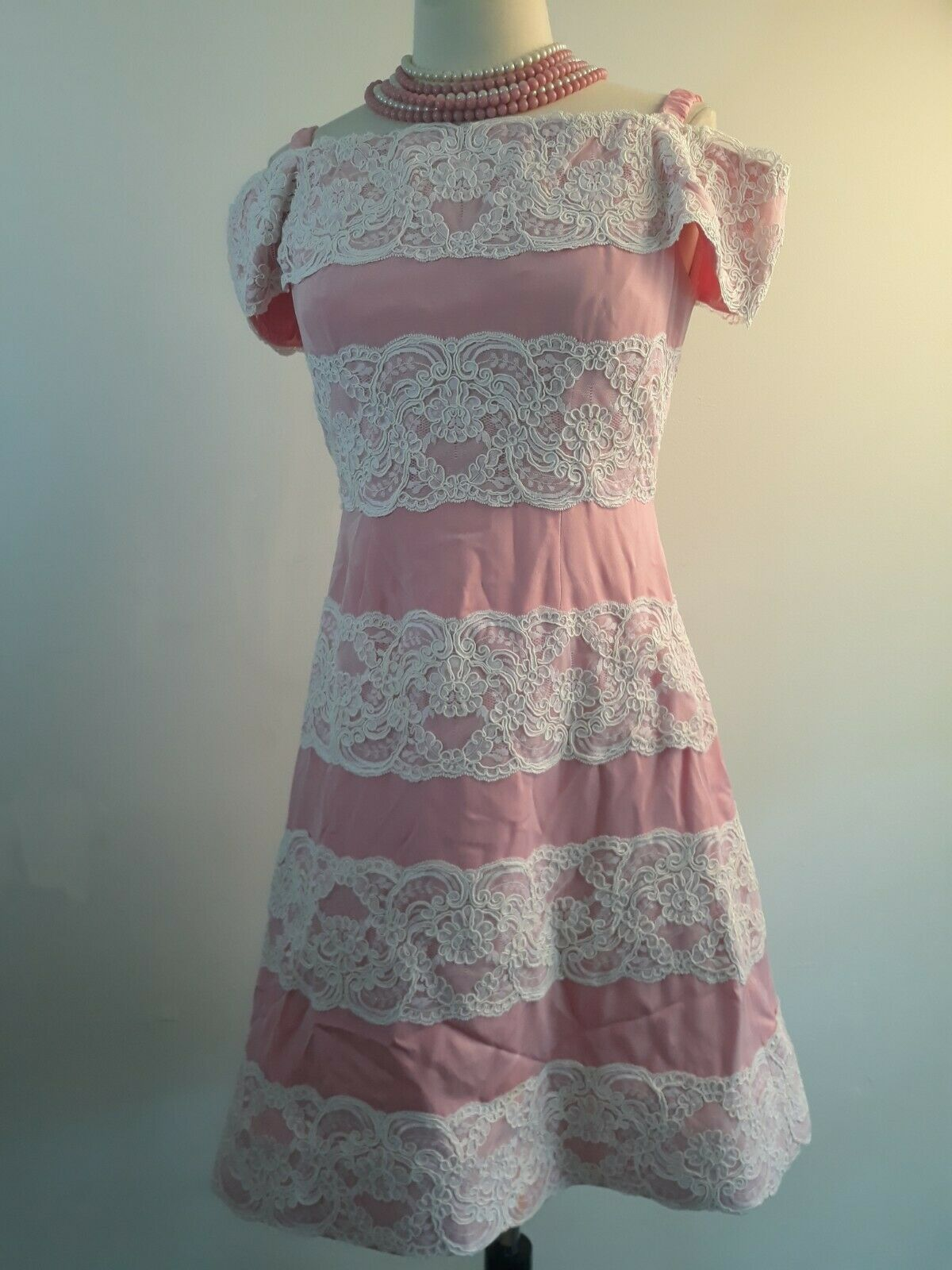 Vintage 80s  Scaasi Boutique Sax Fifth Ave Pink& … - image 11