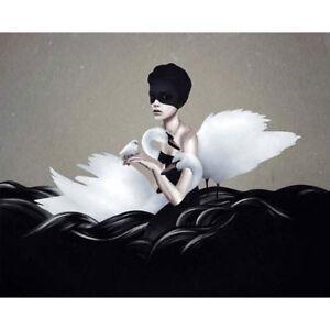 Ruben-Ireland-Let-Go-ART-PRINT-POSTER-50x70cm-NEW-UK-Visual-Artist-girl-swans