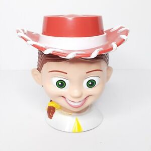 JESSIE-The-COWGIRL-Disney-On-Ice-Toy-Story-2-Plastic-Mug-Cup-with-Flip-Lid-EUC