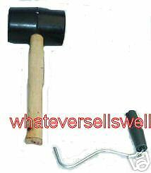 RUBBER MALLET TENT PEG PULLER camping remover extractor
