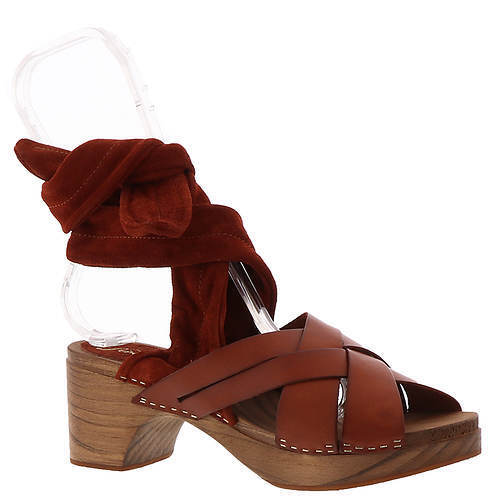 NEW Free People Emmy Clog in Cognac Wooden Hasbeens Leather  Size 9.5-10 ER 40