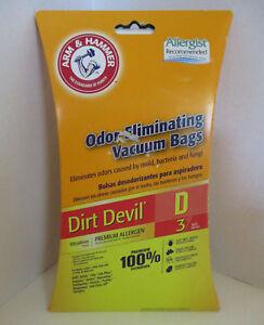 3-Type-D-bags-Dirt-Devil-Vacuum-Cleaner-Bags-Arm-amp-Hammer-Odor-Elminating