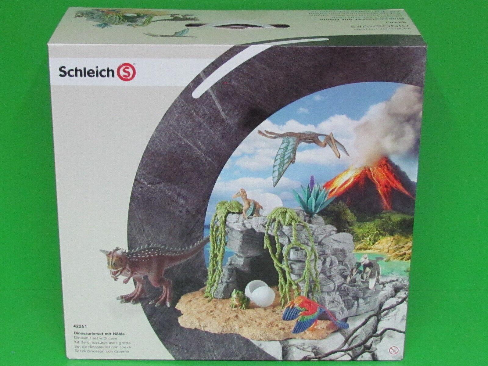 Schleich® Dinosaurier 42261 Dinosaurierset mit Höhle Blitzversand per DHL-Paket