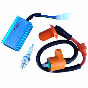 Racing-Ignition-Coil-Spark-Plug-CDI-GY6-50cc-150cc-Scooter-ATV-Quad