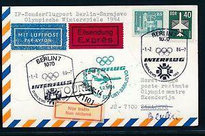 97488) Rda Coursier Carte If Olympiades Sf Berlin-sarajevo 1.2.84-afficher Le Titre D'origine Nourrir Les Reins Soulager Le Rhumatisme