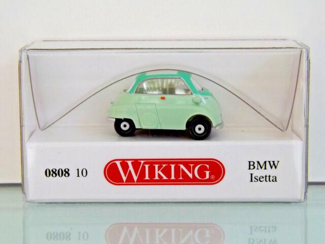 Wiking 080810 - 1:87 - BMW Isetta - Verde Bianco - Nuovo in Scatola Originale