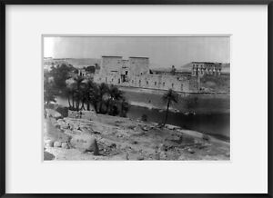 Photo: Island of Philae, Egypt, showing ancient temple, c1880
