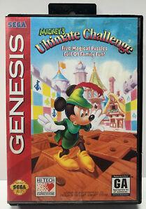 Mickey-s-Ultimate-Challenge-Complete-CIB-for-Sega-Genesis-Authentic-NTSC-Version
