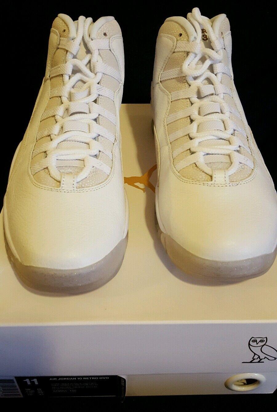 Air jordan 10 ovo white size 11