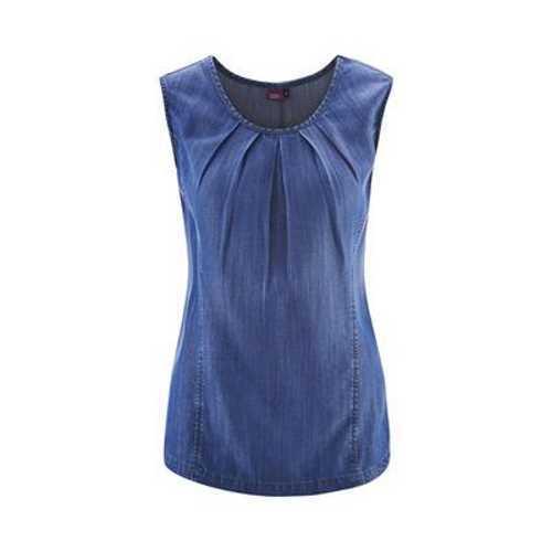 Textile Natural Estate ricci Indigo Blau Top Lady Lyocell Vegan Artigianale wSAw6vqT