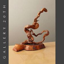 MID CENTURY MODERN ABSTRACT WOOD SCULPTURE! Biomorphic Art Eames Vtg 50's Retro