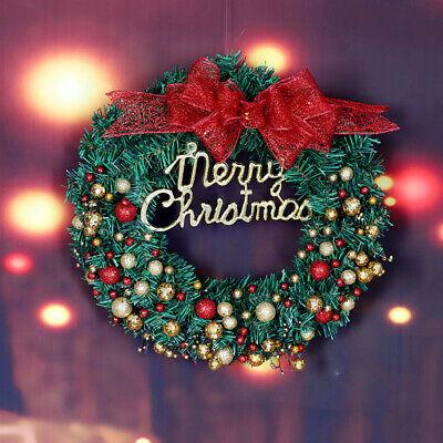 55 Balls Christmas Wreath Door Wall Ornament Garland Decoration New Year Decor