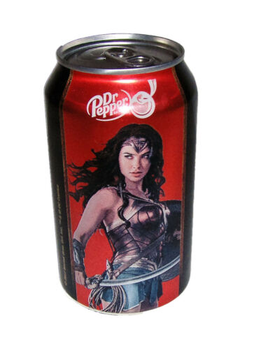 Gal Gadot 2017 Pepper Limited Edition Collector Can WONDER WOMAN Cherry Dr