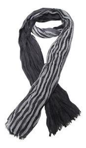 Cheche-foulard-echarpe-pour-homme-ou-mixte-gris-et-noir-180-x-60-cm-D2