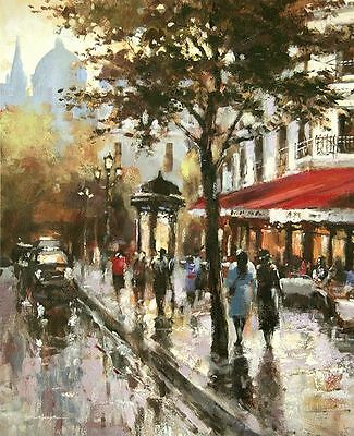 Brent Heighton: Avenue Champs-Elysees Paris Fertig-Bild 40x50