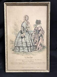 Antique Framed Litho Print Art Le Bon Ton Modes Fashion Welker Heidelberg Ebay