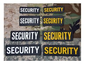 Smaller Colors Below Milspec Monkey MSM PVC Morale Patch SECURITY 6 X 2