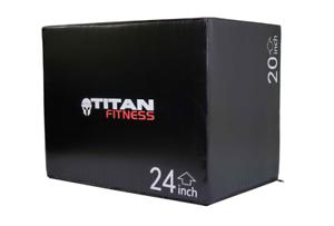 "Titan Fitness 3 In 1 20"" 24"" 30"" Soft Foam Plyo Box Jumping Exercise-Crossfit | eBay"