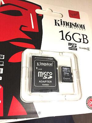 Micro SD Adapter Kingston 16GB Micro SDHC Flash Memory Card Class 4
