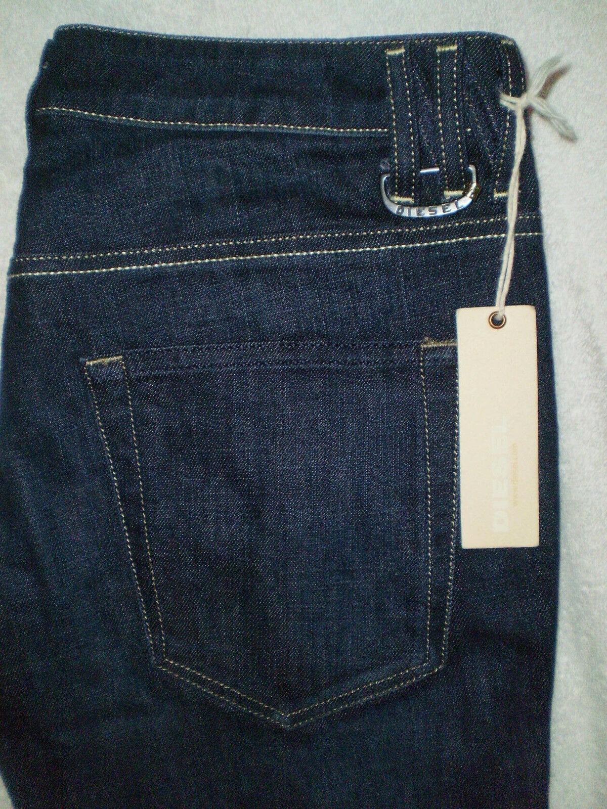 Diesel Straight Leg Womens Looppy Stretch Denim bluee Jeans Size 30 X 34 New