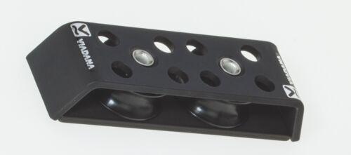 Viadana Anodized Aluminum Two Sheave Stainless Ball Bearing Deck Organizer 44mm