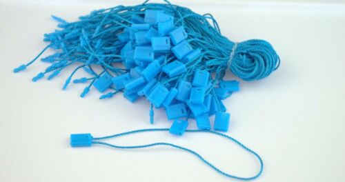 "7/"" 200 Pcs BLUE Hang Tag Nylon String FLAT Lock Pin Loop Fastener Hook Ties"