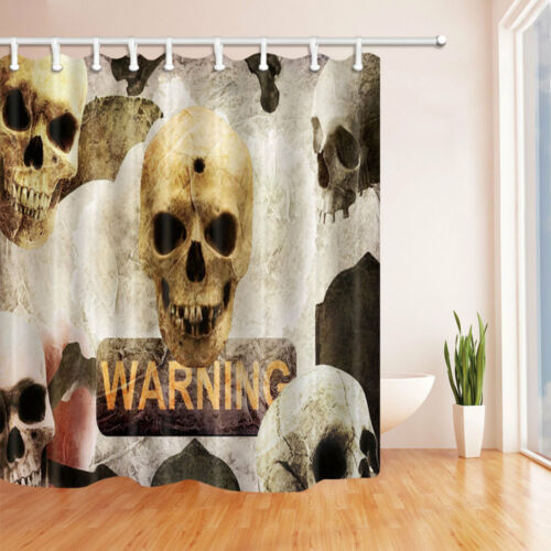 environ 180.34 cm Halloween Skull Rideau de Douche Pour Salle de Bain Maison Rideau Avec Crochets 71 in