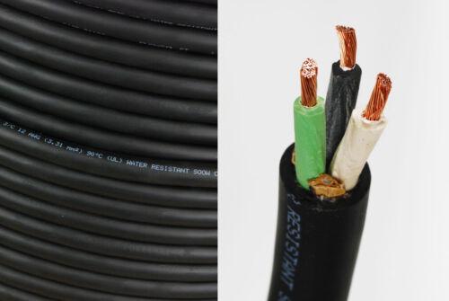 HD USA portable extérieur intérieur 600 V Flexible Câble 12//3 soow pour cordon 50 Ft environ 15.24 m