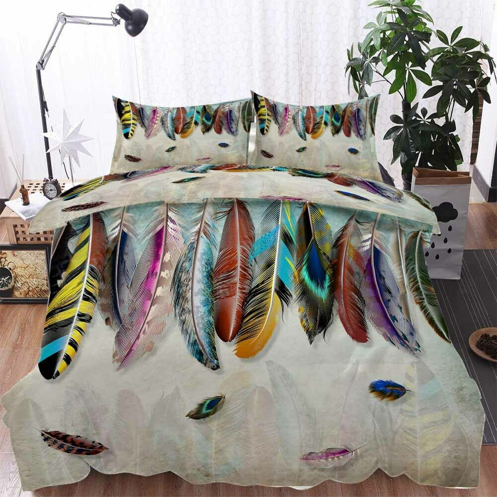 Colourful Supple 3D Printing Duvet Quilt Doona Covers Pillow Case Bedding Sets