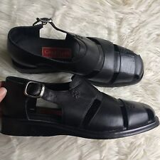COLE HAAN Country leather FISHERMAN SANDALS Mens SHOES Size 11 black
