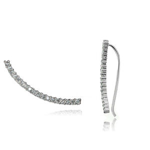 Sterling-Silver-Cubic-Zirconia-Curved-Crawler-Climber-Hook-Earrings-3-Colors