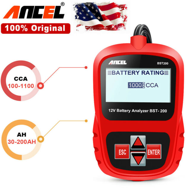 12v Load Battery Tester Auto Car Yzer Tool 100 1100cca Ancel Bst200