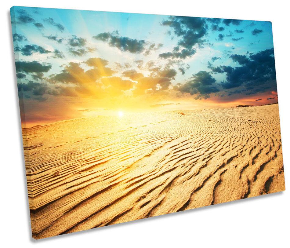 Sunset Desert Landscape CANVAS WALL ART SINGLE Picture Print