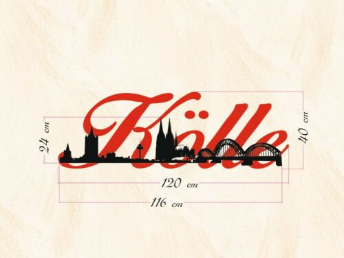 Schriftzug Skyline Wand- Möbel- Köln Größen Nr.sk0004 vers Auto- Tattoo