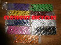 Purple & Silver 2tone Fixie Bicycle Chain 1/2x1/8 112l Schwinn Cruiser Bike Bmx