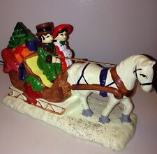 Brinn's Horse Carriage Sled Christmas Ceramic Music Box Jingle Bells