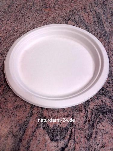 Zuckerrohr Teller rund 24 cm 50 Stück