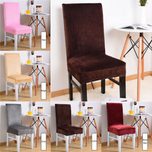 Terrific Details About Soft Velvet Dining Chair Covers Wedding Party Home Elastic Stretch Seat Cover Inzonedesignstudio Interior Chair Design Inzonedesignstudiocom