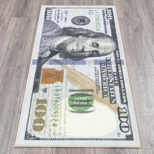 Hundred Dollar Bill Benjamin Franklin Design Modern Runner Rug 22/' by 53/' Carpet
