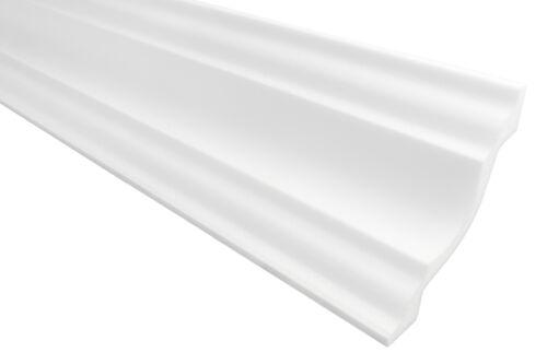 20 Mètres plinthe en stuc Profil D/'Angle Moulage stuc Polystyrène 80x80mm dl80