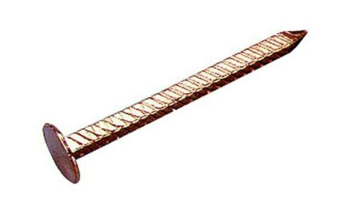 16 x nail calotin 60mm x 3mm copper tip annulate large head roofing gutter