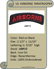 AIRBORNE BLACK/RED TAB PATCH - ABP13